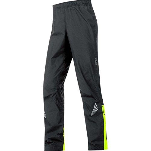 GORE BIKE WEAR Men's Long Cycling Rain Overpants, GORE WINDSTOPPER, ELEMENT WS AS Pants, Size M, Black/Neon Yellow, PWELEM (Rain Pants Bike compare prices)