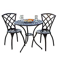 Best Selling Cast Aluminum Bistro Set, 3-Piece by Heavy Metal Inc.