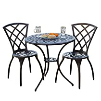 Big Sale Best Selling  Cast Aluminum Bistro Set, 3-Piece
