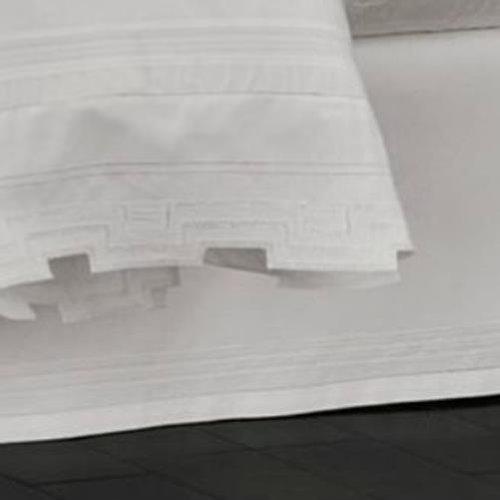 Martha Stewart Trousseau Hemstitch White King Bedskirt front-1011840