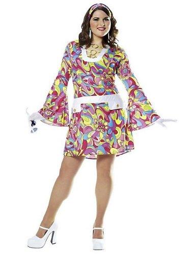 Groovy Chic Plus Costume - Plus Size 2X - Dress Size 20-22