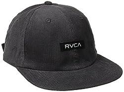RVCA Men's Fleetwood Six Panel Hat, Grey, One Size