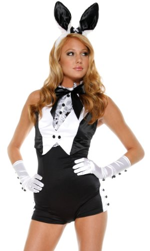 Forplay Fp559205 Bunny Costume Set with Tuxedo Style Romper