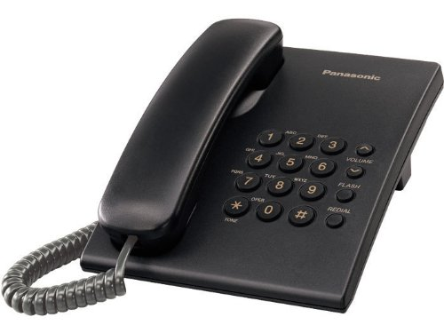 Panasonic Kx-Ts500B Integrated Corded Phone System, Black
