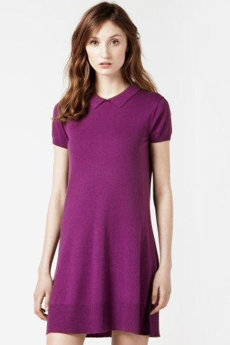 Short Sleeve Full Button Down Back Polo Dress