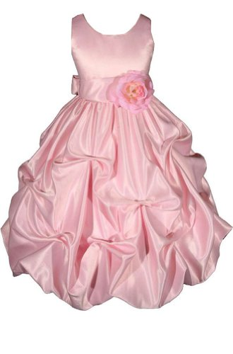 Amj Dresses Inc Girls Pink Flower Girl Pageant Dress Size 16