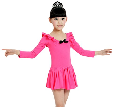 AvaCostume Girl's Long Sleeve Ballet Dance Dress Costumes