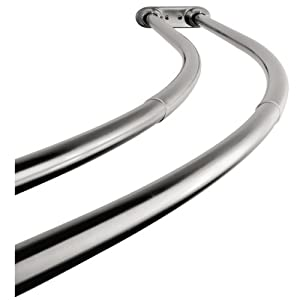 Kingston Brass Ccd2171 Adjustable 60 Inch 72 Inch Double Curved Stainless Steel