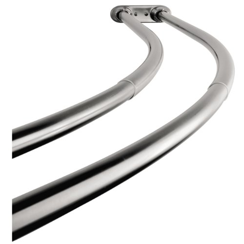 Kingston Brass Ccd2171 Adjustable 60 Inch 72 Inch Double Curved Stainless Steel Shower Curtain