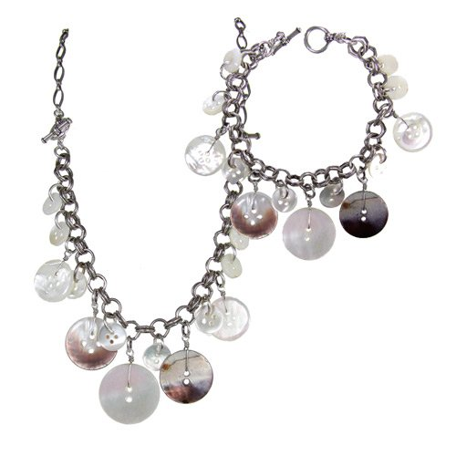 Precious Pearls Necklace Bracelet Combo