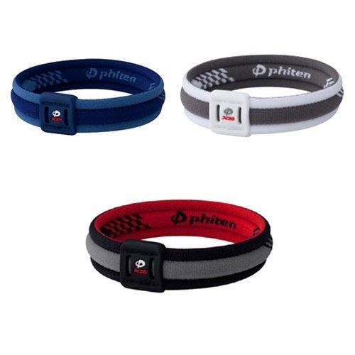Phiten Titanium Bracelet X30 Edge, White / Gray, 6.75 Inch