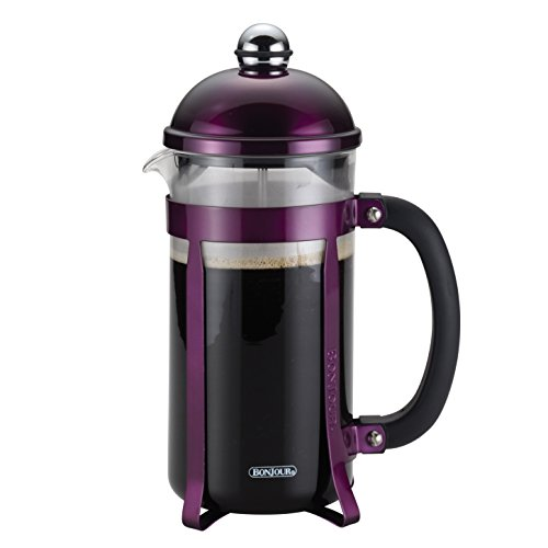 BonJour Coffee 8-Cup Maximus French Press, Purple