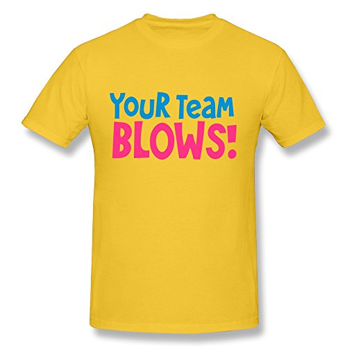 100% Cotton Awesome Team Blows Good Sport Heckle Tee Shirts For Man'S - Round Neck front-1037117