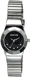 Sonata Eva Analog Black Dial Womens Watch - 8981SM01