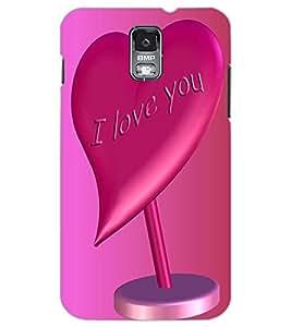 SAMSUNG GALAXY S5 I LOVE U Back Cover by PRINTSWAG