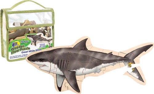 Imagen principal de Wild Republic 84772 - Puzzle de suelo de madera dibujo de tiburón [Importado de Alemania]
