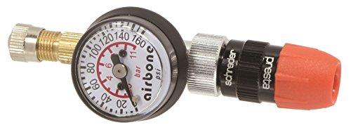 EyezOff-EZ618A-pneumatici-manometro-160-PSI-valvola-reversibile-PrestaSchrader-Flo-Thru-modello-gonfiabile