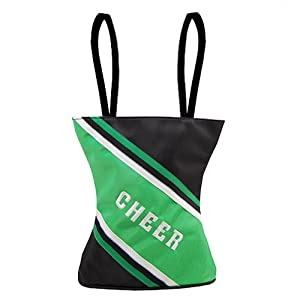 Private Label Green Black Cheer Little Girl Specialty Tote Bag Sassi Designs