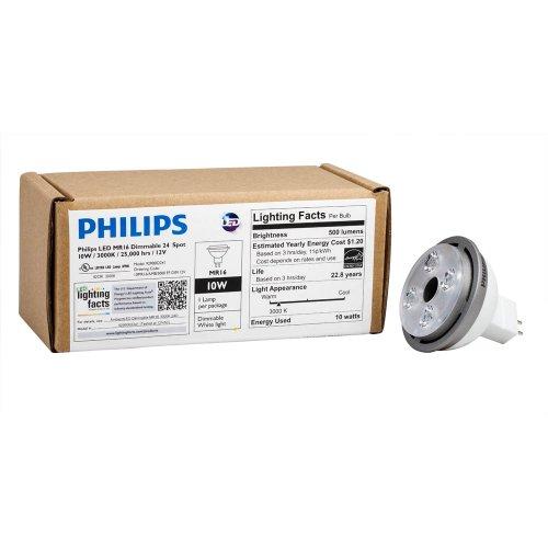 Philips 429274 10-Watt (35-Watt) Mr16 Led Indoor Spot 12-Volt Light Bulb, Dimmable