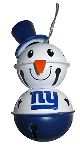 New York Giants NFL Football 2 Tier Snowman Bell Holiday Christmas Ornament