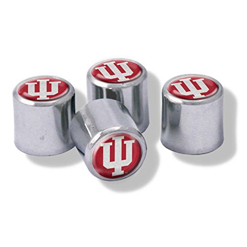 NCAA Indiana Hoosiers Metal Tire Valve Stem Caps, 4-Pack (Hoosier Tire Decal compare prices)