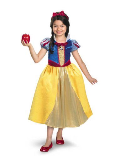 Snow White Lame Deluxe 4-6 Kids Girls Costume