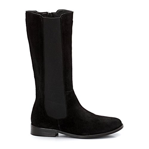 La Redoute Laura Clement Frau Suede Boots, Wide Calf Fitting Gre 40 Black