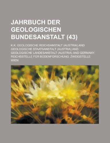 Jahrbuch Der Geologischen Bundesanstalt (43)