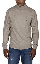 US POLO ASSOCIATION Men's Blended Sweater (USSW0408_Grey_Medium)