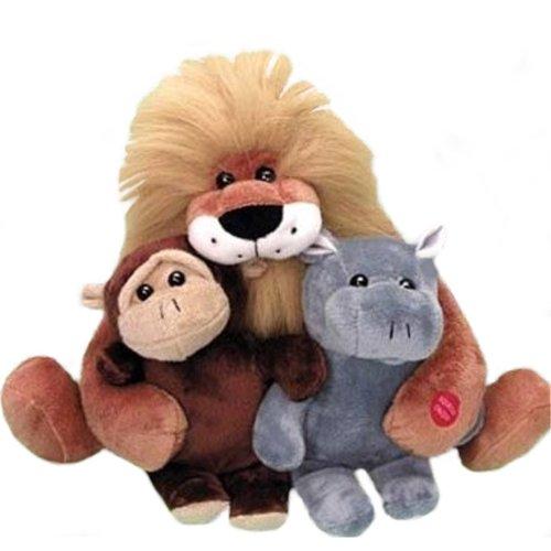 The Lion Sleeps Tonight Musical Stuffed Jungle Animal Gift Set