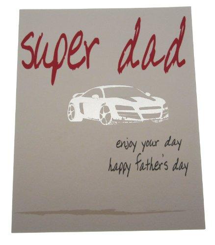carte di cotone bianco FIT 4 1 pezzo Super Dad Enjoy Your Day Care