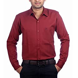 Aaduki Men's Casual Red Shirt-40
