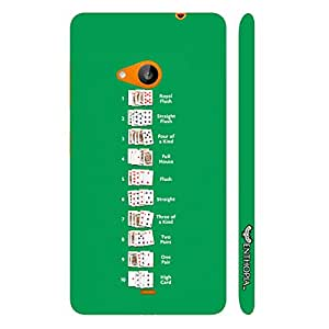 Nokia Lumia 535 Poker Ranking the getful designer mobile hard shell case by Enthopia