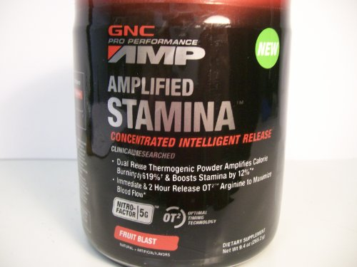Gnc Amplified Stamina Fruit Blast 9.4Oz