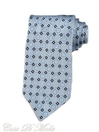 $90 NEW ITALIAN Hand Made Necktie Azure Blue Silk Tie