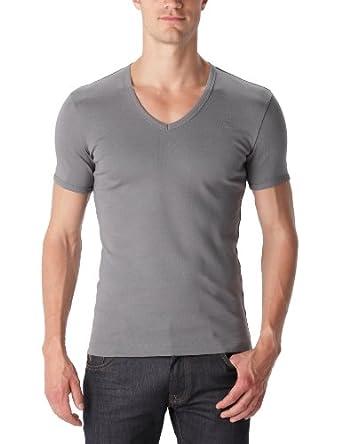 G-STAR Herren T-Shirt 2 er Pack Base V T s/s 2-Pack - 8756; Gr. 46 (S); Grau (grey htr 906)