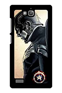 Caseque Blaze Captain America Back Shell Case Cover For Huawei Honor 3C