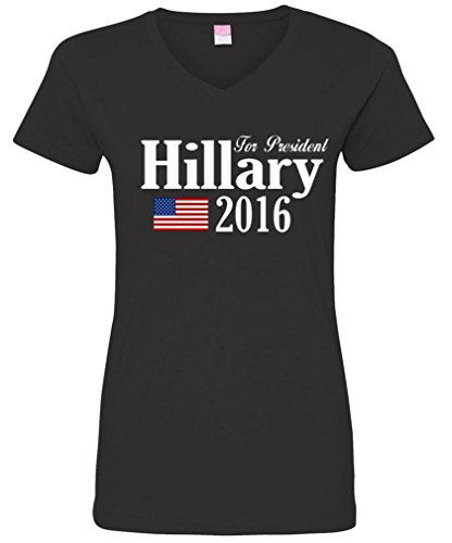 Ladies V-Neck: 2016 Hillary Clinton For President T-Shirt