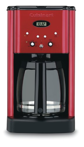 Cuisinart Dcc-1200Mr Brew Central 12-Cup Programmable Coffeemaker, Metallic Red