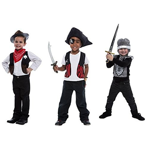 KNIGHT, COWBOY & PIRATE - VALUE PACK DRESS UP VALUE PACK