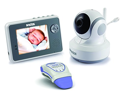 Snuza Trio Plus Baby Monitor System - Movement Tracking, Room Temperature Display, 2-Way Audio, and Live Video Feed - Includes Snuza Video and Snuza Hero Units - 1