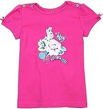 Deux par Deux Girls39 T-shirt Fizzy Pop Fushia Sizes 5-8