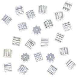 144-Piece Earring Safety Backs for Fish Hook Earrings, Small, Clear