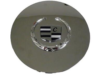 Set of 4 Otis Inc LA Cadillac Seville, Deville, El Dorado, DTS Chrome Wheel Center Cap with Chrome Wreath and Crest