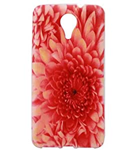 Red Flower Exclusive Rubberised Back Case Cover Micromax Canvas Xpress 2