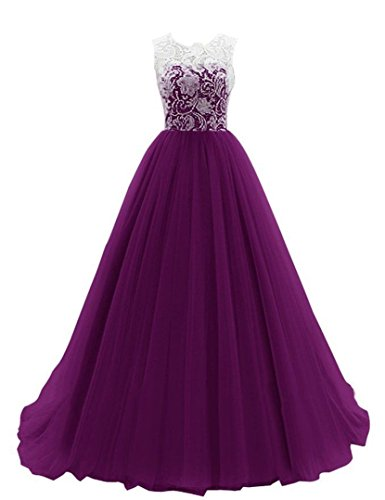 JY FASHION® Women's Ruched Sleeveless Lace Long Evening Dress Prom Gown #136