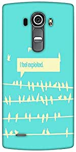 Snoogg Birds Feel Expoited 2912 Designer Protective Back Case Cover For LG G4