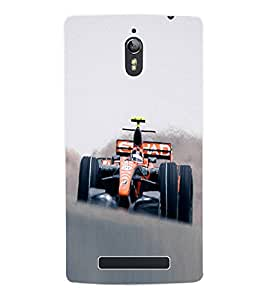 Fuson 3D Printed Racing Car Designer Back Case Cover for Oppo Find 7 - D841