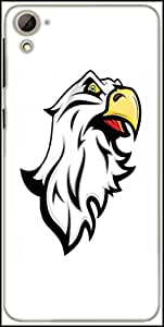 Snoogg Angry Eagle Mascot Designer Protective Back Case Cover For HTC Desire 826