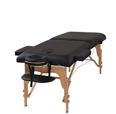 "Heaven Massage 3"" Portable Massage Table - PU Leather High Quality Oil and Water Resistant"